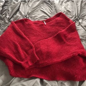 FP off the shoulder red sweater